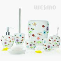 Quality Beautiful Insects And Flowers On Bodies Polyresin Bathroom Set  (WBP0809A) for sale