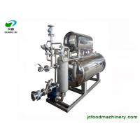 Quality industrial automatic glass pet pp bottle fruit juice autoclave machine with steam spraying sterilization method for sale