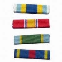 Quality Military Ribbon, Different Colors are Available for sale