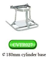 Quality Stainless steel cylinder base ¢180mm hospital furniture medical equipment trolley for sale