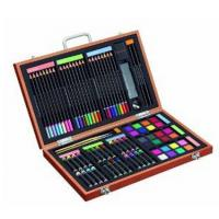 China 82 Piece Studio Art & Craft Supplies Set in Wood Box -Great Gift for Drawing and Painting on sale