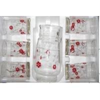 Quality Glass Teapot 7PCS Set/Glass Jug for sale