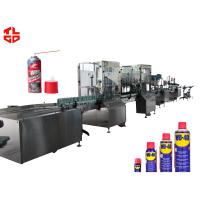 Buy cheap Stainless Steel Anti Rust Aerosol Filling Equipment And Crimping Machine product