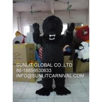 China black angry gorilla mascot costume, advertising fur ape mascot costume on sale