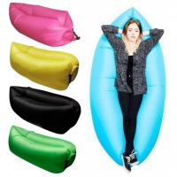 New Functional Outdoor One Mouth Inflatable Lazy  Bag Air Inflatable Sleeping Bags Banana Sleeping Bags