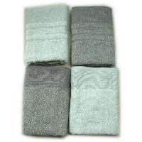 Quality Yarn Dyed Jacquard Bath Towel With Ribbed Border for sale