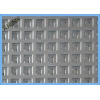 China Thick Square Hole Perforated Sheet MetalHot Dipped Galvanized 1.5mm Thickness on sale