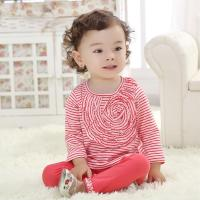 China flowers spring new 2 color stripe baby suit baby wear two-piece outfit (0-3 Year) on sale