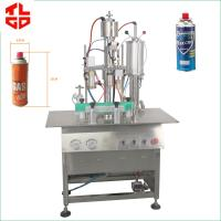 China Butane Gas / LPG Gas Filling Machine , Stainless Steel Cartridge Filling Machine on sale