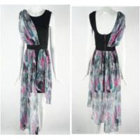 China Petites Pastel Printed Dress With Exposed Zip Back on sale