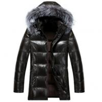 Buy Cool Winters Hooded Anorak Jacket With Fur Hood , Mens Padded Leather Jacket at wholesale prices