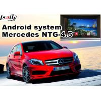 Quality Video Interface Car Navigation Box , Android Gps Navigation Mercedes Benz A Class NTG 4.5 Mirrorlink for sale