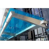 China Customized Color Commercial Steel Awnings , Windproof Glass And Steel Awnings Anti Yellowing on sale