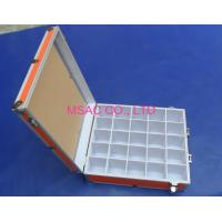 China Orange Aluminum Tool Cases / Acrylic Carrying Case With Slots For Display on sale