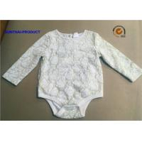 China Customized Infant Girl Rompers, 2 Layers Lace Onesie Crew Neck Baby Girl Bodysuits on sale