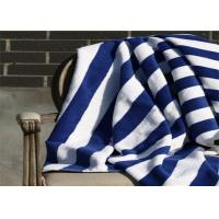 Quality 100% Cotton Blue & White Color Hotel Stripe Beach Towel With 80*160CM for sale