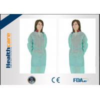 Quality PP 22gsm Disposable Isolation Gown 115x127cm Elastic Cuff With Long Sleeve Gown for sale