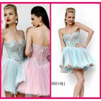 Quality Light Blue Homecoming Dress Sweetheart Mini Short Beading Appliques Zipper for sale