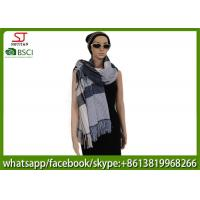 Quality 250g 180*83cm 100%Acrylic woven layers tassel  scarf  factory  keep warm fashion stripe hot sale new style poncho for sale