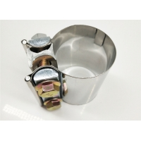 Quality Catalytic Converter / Muffler / Catback Pipe 3 Inch Stainless Steel Exhaust Clamps for sale