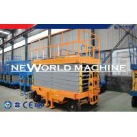 Quality Yellow SJY Series 4-14M Mobile Hydraulic Platform Lift 2.2kw Power for sale