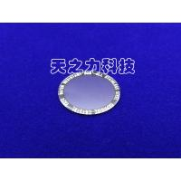 China Circular Plane Artificial Flat Watch Glass Ground And Beveled Edge Finish on sale