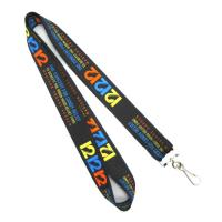 Swivel J-hook Heat Transfer Printing Lanyard Black 900 X 20mm