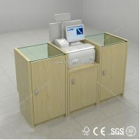 China supermarket checkout counter equipment,shop cashier counter for sale on sale