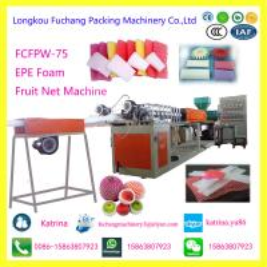 China EPE Foam Fruit Net Extruder Plastic PE Foam Net Making Machine on sale
