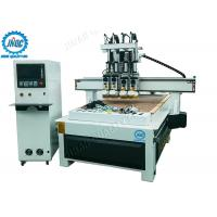China Automatic Tool Changer Computer Controlled Wood Router Machine With 4 Heads on sale