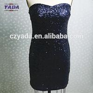 Quality Latest sexy plus size club sequins fashion lady plain women office dress for sale for sale