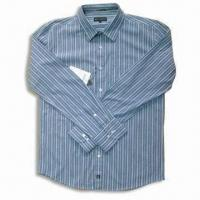 Quality Men's Casual Shirt in Stripe Design with Long Sleeves for sale