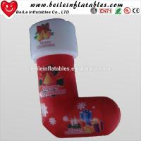 Quality Giant inflatable christmas socks and inflatable christmas gift decoration for sale