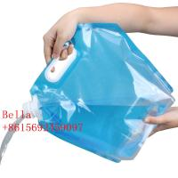 Buy cheap Outdoor camping water bag travel portable bucket sports hiking folding kettle drinking water bag water storage bag from wholesalers