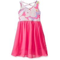 Quality Floral Top Little Girl Summer Dresses Size 7 Chiffon Criss Cross Back Dress for sale