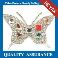 China Butterfly Stones Patches Hot Fix,Cheap Hotfix Patches Stones,Shiny Stone Patches Hot-Fix on sale