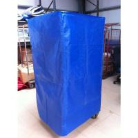 Quality 210D Blue Coated Polyester Cover Customized Size For Roll Cage Trolley for sale