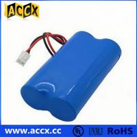 Quality 7.2V lithium battery pack with connector in series for sale