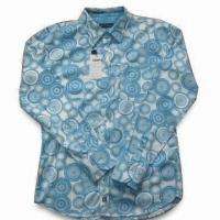 Quality Men's Casual Shirt with Printing and Long Sleeve, Various Colors Available for sale