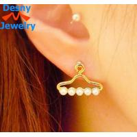 China Nesest Clothes stand shape pearl earring design for women lady on sale