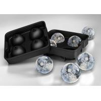 China Cutomized Four 2 Inch silicone ice ball mold / mould  Pantone color on sale