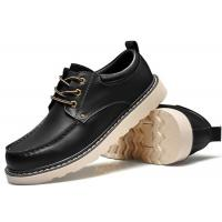 Buy Handmade Mark Thread Mens Formal Leather Shoes , Tan Color Casual Winter Shoes at wholesale prices