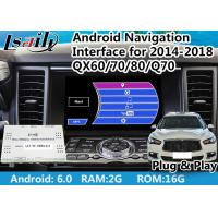 Quality Built - In WIFI Android Auto Interface for Infiniti QX With Google Play / T3 Quad - Core Processor for sale