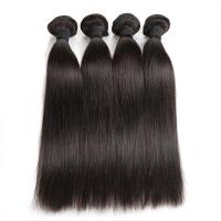 Buy Double Machine Weft Virgin Human Hair Bundles Long Straight Hair Extensions For Thin Hair at wholesale prices