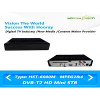 Buy cheap Full HD MPEG 4 CAS DVB T2 Set Top Box Digital Terrestrial Receiver With Smart Card product