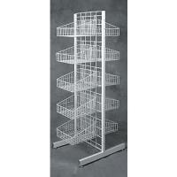 4 Tier Folding Metal Wire Bread Display Rack with Sign Holder