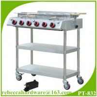 China Portable stainless steel gas barbecue grill on sale