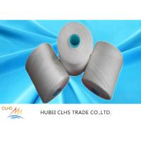 Quality White Polyester Yarn Dyeing , 100 Spun Polyester Sewing Thread For Hand Knitting for sale