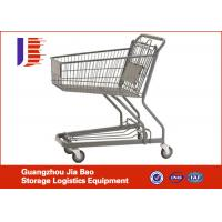 Quality 4-Wheels Supermarket Shopping Carts 80L With High Capacity for sale