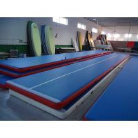 Buy Portable Inflatable Gym Mat , Air Floor Tumbling Mat For Injuries Preventing at wholesale prices